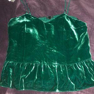 Velvet green cami